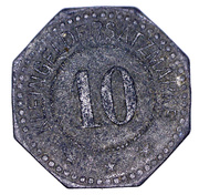 10 Pfennig (Nürnberg) [Private, Bayern, A. Herbst & M. Ostertag Baugeschäft] – reverse