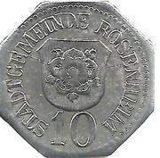 10 Pfennig (Rosenheim) [Stadt, Bayern] – obverse