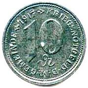 10 Pfennig (Weiler) [Marktgemeinde, Bayern] – reverse