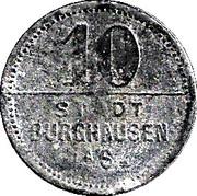 10 Pfennig (Burghausen an der Salzach) [Stadt, Bayern] – reverse