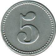 5 Pfennig (Mühlheim am Main) [Private, Hessen, Offenb. Schrauben Industrie] – reverse