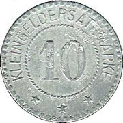 10 Pfennig (Schwarzbach an der Saale) [Stadt, Bayern] – reverse