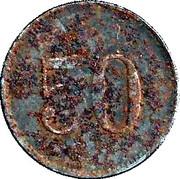 50 Pfennig (Lauingen) [Stadt, Bayern] – reverse