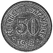 50 Pfennig (Hof) [Stadt, Bayern] – reverse