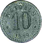 10 Pfennig (Unterweserstädte) [Städte, Bremerhaven-Geestemünde-Lehe] -  reverse