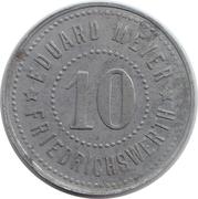 10 Pfennig (Friedrichswerth) [Private, Sachsen-Coburg-Gotha, Eduard Meyer] – obverse