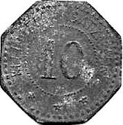 10 Pfennig (Schwandorf) [Private, Bayern, Braunkohlen Industrie] – reverse