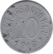 10 Pfennig (Rodach) [Stadt, Sachsen-Coburg] – reverse