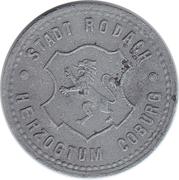 10 Pfennig (Rodach) [Stadt, Sachsen-Coburg] – obverse