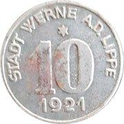 10 Pfennig (Werne a. d. Lippe) [Stadt, Westfalen] – obverse