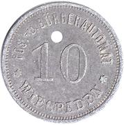 10 Pfennig (Wiesbaden) [Private, Hessen-Nassau, Post- und Bürgerautomat] – obverse