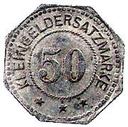 50 Pfennig (Weissenburg) [Stadt, Elsaß] – reverse