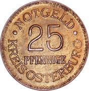 25 Pfennige (Osterburg) [Kreis, Provinz Sachsen] – obverse