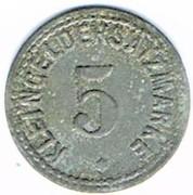 5 Pfennig (Zabern)[Stadt, Elsass] – reverse