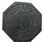 10 Pfennig - Mühlhausen im Elsass (Warenhaus Dreyfus) – obverse