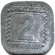 2 Pfennig (Ludwigshafen am Rhein) [Private, Pfalz, BASF] – reverse
