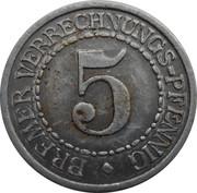5 Verrechnungspfennig (Bremen) [Freie Hansestadt, Bremen] – reverse