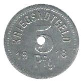 5 Pfennig (Apolda) [Stadt, Sachsen-Weimar-Eisenach] – reverse