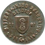 5 Pfennig (Oberlahnstein) [Private, Hessen-Nassau, Volksbank] – reverse