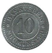 10 Pfennig (Neumünster) [Private, Schleswig-Holstein, Bankverein] – obverse