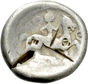 Tetradrachm (Sattelkopfpferd Type) – reverse