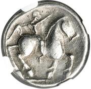 Tetradrachm (Wangenschnecke Type) – reverse