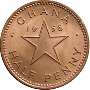 ½ Penny - Elizabeth II -  reverse