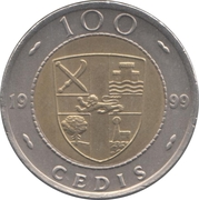 100 Cedis -  reverse