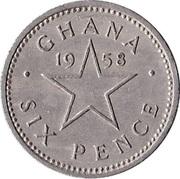 6 Pence - Elizabeth II -  reverse