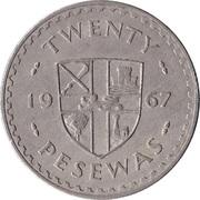20 Pesewas -  reverse