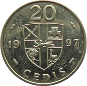 20 Cedis -  reverse