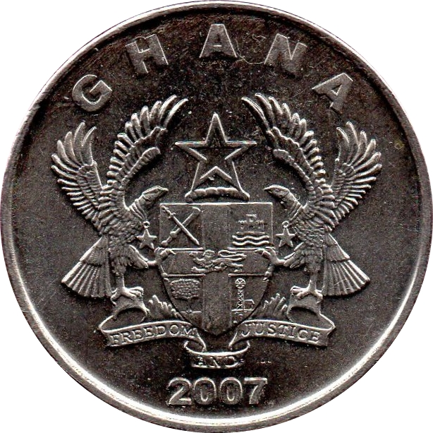 3 DIFFERENT COINS from GHANA 20 /& 50 PESEWAS 5 ALL DATING 2007