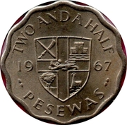 2½ Pesewas – reverse