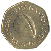1 Cedi (7-sided, FAO) – obverse