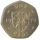 1 Cedi (7-sided, FAO) – reverse