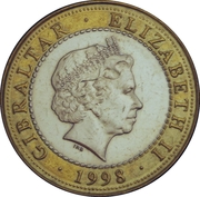 2 Pounds - Elizabeth II (The Ceryneian Hind) -  obverse