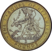 2 Pounds - Elizabeth II (The Ceryneian Hind) -  reverse