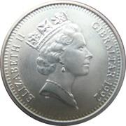 10 Pounds / 14ECUS - Elizabeth II (Mounted Knight) – obverse
