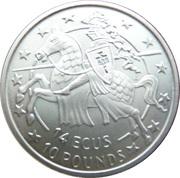 10 Pounds / 14ECUS - Elizabeth II (Mounted Knight) – reverse