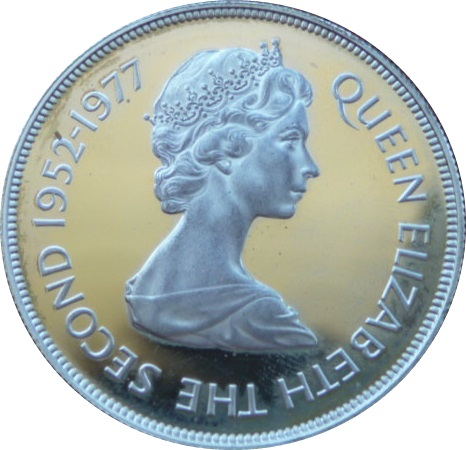 Queen Elizabeth the 2nd Silver Jubilee Crown Coin 1977 25 Years Our Queen