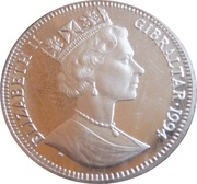 ½ Crown - Elizabeth II (Holmes smoking pipe) – obverse