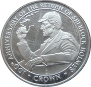 ½ Crown - Elizabeth II (Holmes smoking pipe) – reverse