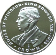 ½ Crown - Elizabeth II (King Edward VIII) – reverse