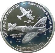 5 Pounds - Elizabeth II (History of the RAF-Spitfires in flight) – reverse