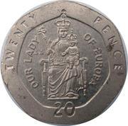 20 Pence - Elizabeth II (3rd portrait) -  reverse
