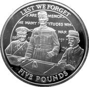5 Pounds - Elizabeth II (Signing the Armistice) – reverse