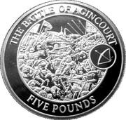 5 Pounds - Elizabeth II (The Battle of Agincourt) – reverse