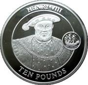 10 Pounds - Elizabeth II (King Henry VIII) – reverse