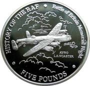 5 Pounds - Elizabeth II (Avro Lancaster) – reverse