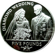 5 Pounds - Elizabeth II (Diamond Wedding) – reverse